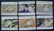 AUSTRALIA 1992: AUSTRALIAN WILDLIFE: SET OF 6 SELF ADHESIVE USED STAMPS