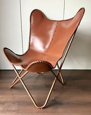 Design Chaise BKF Butterfly chair Pliante Cuir Chaise Cuir Fauteuil Lounge Vintage