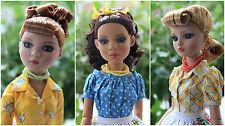 Tonner Ellowyne Pru Lizette 3 doll Vintage TEA+Baker+Kitchen set