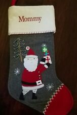 New Pottery Barn Mono Mommy Wool Nordic Santa Christmas Stocking