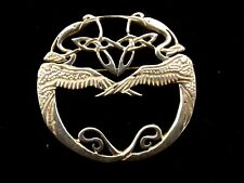 Vintage sterling silver brooch by Tain Heron Brooch wings and celtic knots 1992
