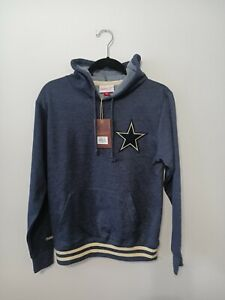 DALLAS COWBOYS FOOTBALL MItchell & Ness Light Weight HOODIE MEN Small in Navy