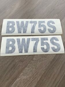 2 X BOMAG BW75S DOUBLE DRUM ROLLER COMPACTOR DECALS STICKERS  175mm X 50mm BLACK
