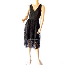 Portmans Signature Midnight in Paris Lace Dress Black Size 12 Tags