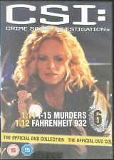 CSI: Disc 6 (1.11 1-15 Murders, 1.12 Fahrenheit 932) Official UK DVD (Free Post)
