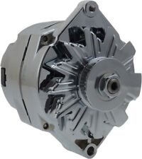 110 Amp Chrome Street Rod Alternator GM 305 350 BBC SBC 1 One Wire Self Exciting