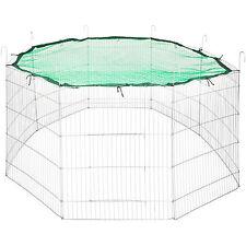 Freilaufgehege + Schutznetz grün Kaninchenkäfig Kaninchen Hasen Freigehege Ø 204
