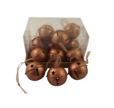 Gisela Graham Christmas Decorations - Copper Baubles - Tree Hanging Decorations