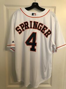 George Springer Majestic CoolBase Jersey XL Houston Astros (new) White