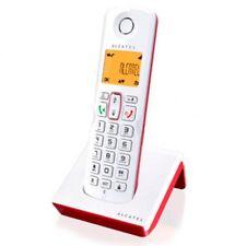 Telefono fijo inalambrico sin cables Alcatel rojo manos libres teclas grandes