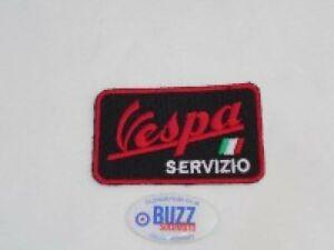 Vespa Servizio Italian Embroidered Sew on Badge Patch 85mm x 50mm 007339