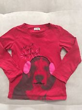 Baby Girl Next UK Top Shirt Size 7 Red With Puppy