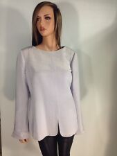 Linda Allard Ellen Tracy Iridescent Blouse Top w/ Reverse Button Down Opening 16