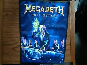 MEGADETH,RUST IN PEACE,SEW ON SUBLIMATED LARGE BACK PATCH