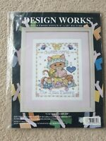 Design Works - Cat Baby Sampler - Counted Cross Stitch Kit (9630)