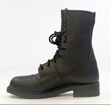 Men's 10.5 Black Leather Steel Toe Motorcycle/ Combat Boots Size  New in Box