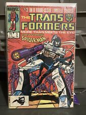 Marvel TRANSFORMERS #3 1984 1st PrintComic Spider-Man Early Black Suit