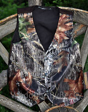 NEW SATIN Camo Wedding Vest/CHILD's Custom made-start $29- Sizes-12m to 14