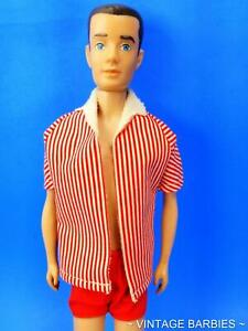 Vintage Brunette Straight Leg Ken Doll #750 w/Original Outfit ~ 1960's