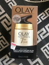 Olay 7 in One total Effect Daily Moisturizer Cream Touch of Foundation 50 ml New