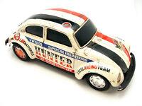 Vintage Taiyo Tin VW Volkswagen Beetle Battery Operated 1303S Hunter Lee Racing