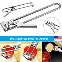 Adjustable Hand Stainless Steel Easy Bottle Opener Jar Lid Twister Gripper Tool