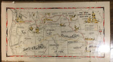 1945 Trail Of Lewis & Clark Map American Pioneer Trails Association ORIGINAL