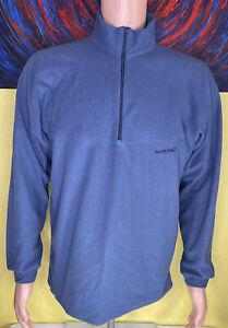 Vintage Men's Mont-Bell 1/2 Zip Fleece Pullover Size Medium Blue USA