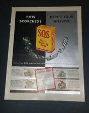 1940 SOS padd Vintage Magazine Ad