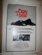 The Don is Dead 1973 Vintage Movie Poster ROLLED 1 Sheet Anthony Quinn mafia