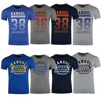 Mens Kangol Designer Crew Neck Short Sleeve Casual T-shirt
