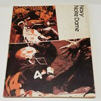 Notre Dame Navy 1971 Football Program and Player Signatures Autographs ND Irish