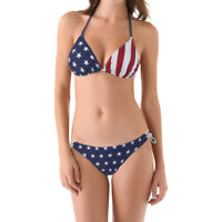 USA American Flag Stars And Stripes - Women's 2 Piece Bikini Swimsuit