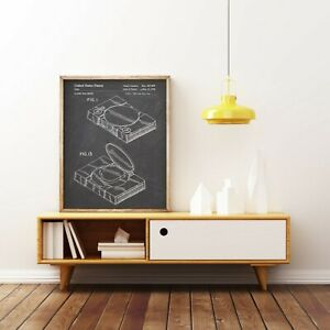Playstation 1 Console Patent Print,Sony PS1 Blueprint,Video Game Poster,Decor