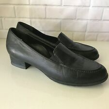 Drew Black Leather Loafers Orthopedic Slip-on Slide Shoes Womens SIZE 7.5 N