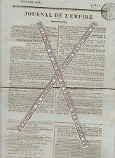 Napoléon. Journal de l'Empire 5 Mai 1808. Angleterre (état des flottes), Russie.
