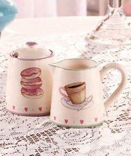 Cookies and Cream Ceramic Sugar & Creamer Set  NEW