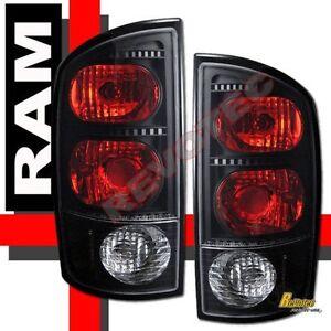 02-05 Dodge Ram 1500 03-05 Ram 2500 3500 Pickup Black Tail Lights Lamps 1 Pair