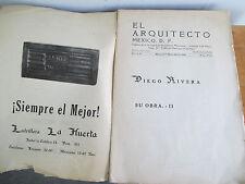 EL ARQUITECTO Mexico D F, 1926 Diego Rivera Issue