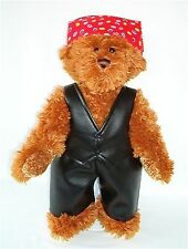 THE BIKER LINDON JOINTED TEDDY BEAR – 16INCH / 40CM TALL – RRP £37 ON OFFER £22