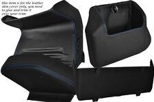 Blue stitch quatre pièces inférieur kit de dash couvre fits VW T4 Transporter Caravelle