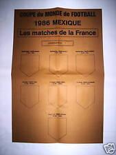 RARE AFFICHE FANIONS COUPE DU MONDE MEXICO 1986