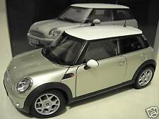 MINI COOPER BMW grise toit blanc 1/18 KYOSHO 08741S voiture miniature collection