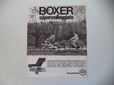 advertising Pubblicità 1970 PIAGGIO BOXER 50 SUPERMOLLEGGIATO