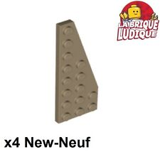 Lego 4x Aile Wedge plate 2x3 droite right marron//reddish brown 43722 NEUF