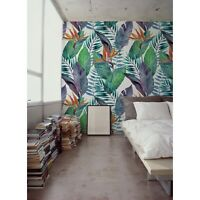 Bird of paradise floral Tropical mural Removable wallpaper Self adhesive decor