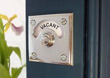 CHROME TOILET BATHROOM VACANT ENGAGED BOLT LOCK INDICATOR DOOR DECO HANDLES