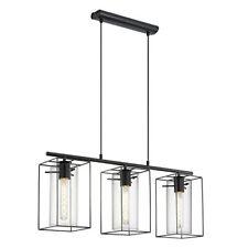 Lámpara colgante de techo Eglo Loncino 49496 negro