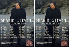 SHAKIN' STEVENS ECHOES OF OUR TIME 2017 TOUR FLYERS X 3