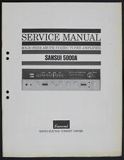 SANSUI 5000A ORIGINAL FM STÉRÉO TUNER AMPLIFICATEUR Manuel de service/diagram